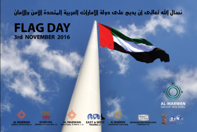 GREETING TO THE RULERS AND RESIDENTS OF THE UAE ON THE OCCASION OF FLAG DAY 3 NOVEMBER