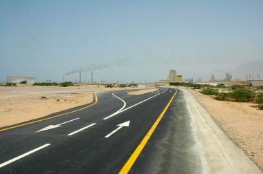 الطرق الداخلية في مدينة رأس الخيمة الملاحية