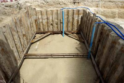 Shoring Works for Driving & Receiving Pit + Deep well Works at Business Bay - Dubai