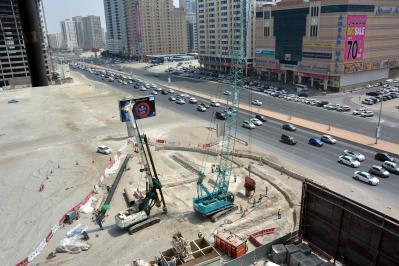 Contract R989 Footbridges on Al Ittihad Road, King Faisal & Adbdul Aziz Street, - Sharjah. UAE.