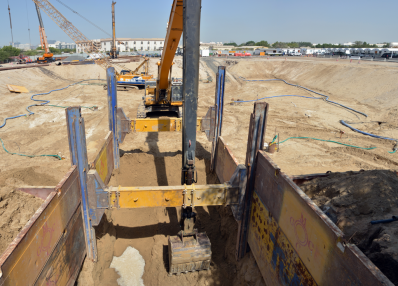 Piling & Shoring Works, Sharjah.